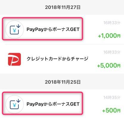 PayPayアプリで登録とチャージでゲットしたボーナス1500円