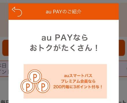 au PAYを使いたいが…