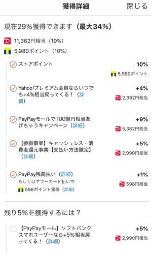 PayPay獲得詳細画面