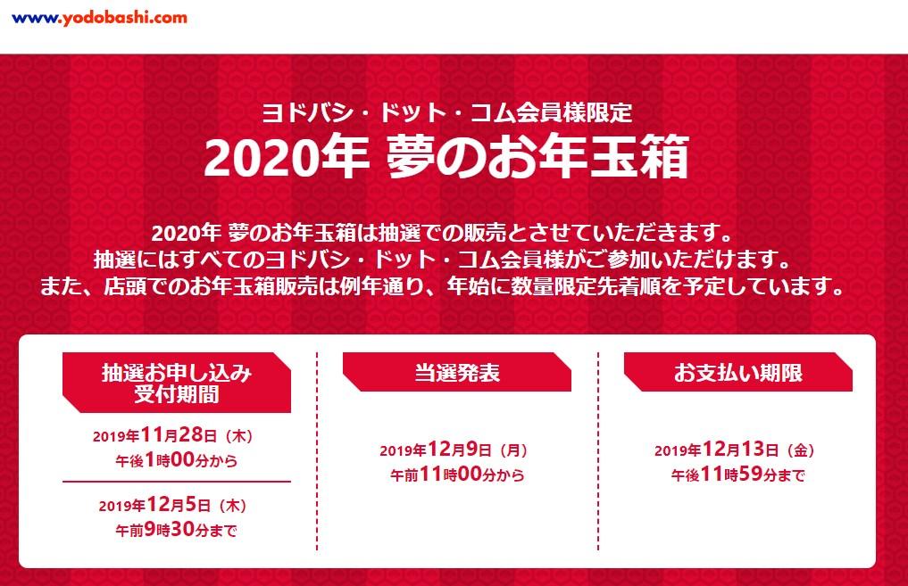 ヨドバシカメラ2020福袋