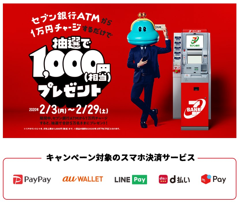 PayPay・auPAY・LINEPay・d払い・メルペイ1000円抽選キャンペーン