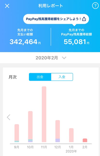 PayPay利用レポート